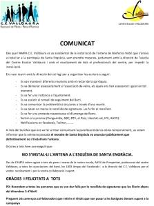 COMUNICAT NO ANTENA.CAT